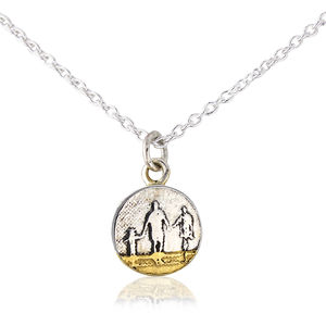Little Me, You And Mum On The Beach Necklace