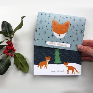 Holiday Foxes Card Pack