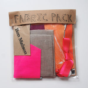 Fabric Craft Packs - throws, blankets & fabric