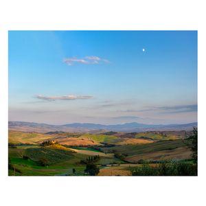 Moonrise Over Belvedere Farm, Tuscany Fine Art Print - living room