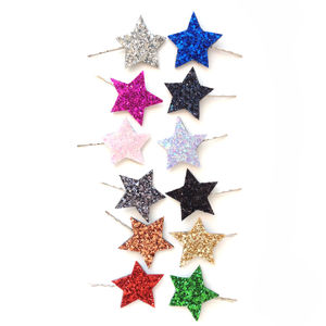 Glitter Star Bobby Pin Pair - combs & hair pins
