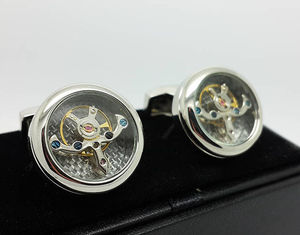 Tourbillon Clock Mechanism Cufflinks