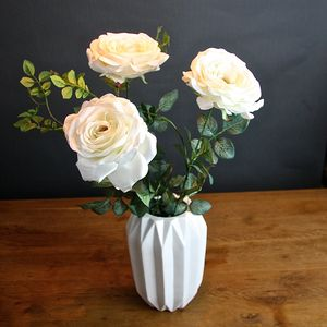 Faux White Rose - flowers & plants