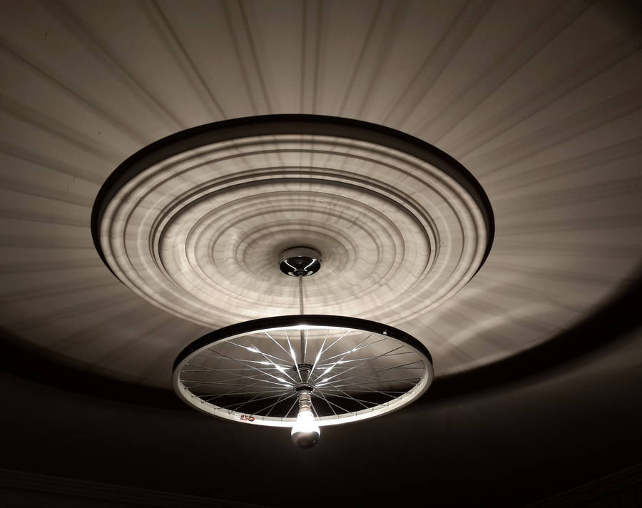 Bike Wheel Ceiling Light By Vyconic Notonthehighstreet Com