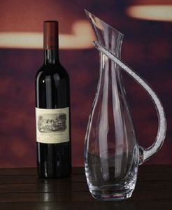 Decanter With Swarovski Crystal Filled Handle - glassware