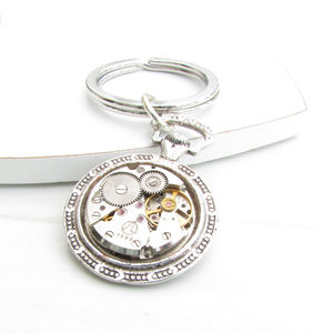 Watch Movement Keyring - gifts under £25 for him