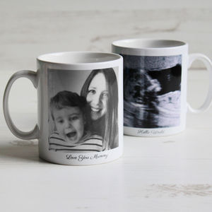 Personalised Photo Mug - mum loves home sweet home
