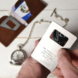 Personalised Bottle Opener And Wallet Card - utensils