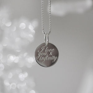 'I Love You X Infinity' Necklace
