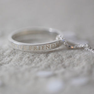 True Friends Ring Necklace - palentine's gifts