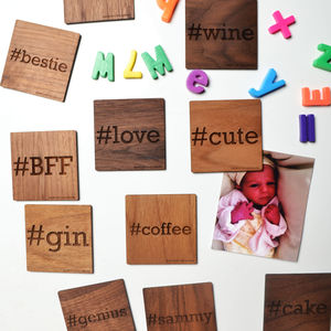 #Personalised Hashtag Magnet