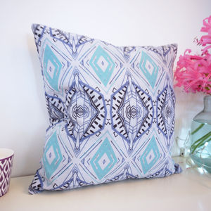 Art Deco Aztec Pattern Cushion - living room
