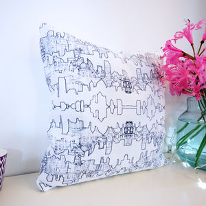 London Skyline Pattern Cushion