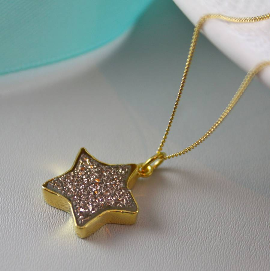 Gold star pendant with druzy by claudette worters gold star pendant with druzy aloadofball Choice Image