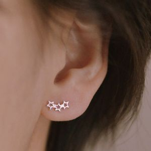 Silver Twinkle Star Earrings Studs - gifts for her