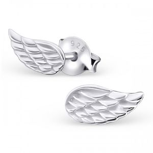 Angel Wing Earrings In Sterling Silver - earrings