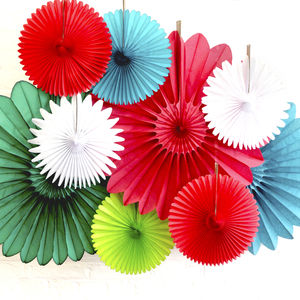 Christmas Paper Fan Decoration Collection - last-minute christmas decorations