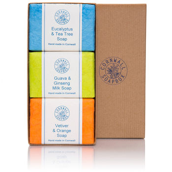 Three Soap Bar Gift Box