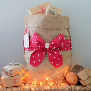 Personalised Christmas Sack With Bow