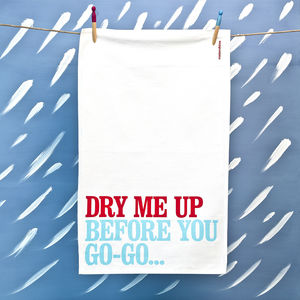 'Dry Me Up…' Tea Towel - kitchen accessories