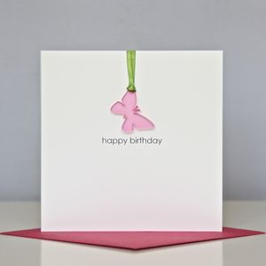 'Happy Birthday' Butterfly Greeting Card