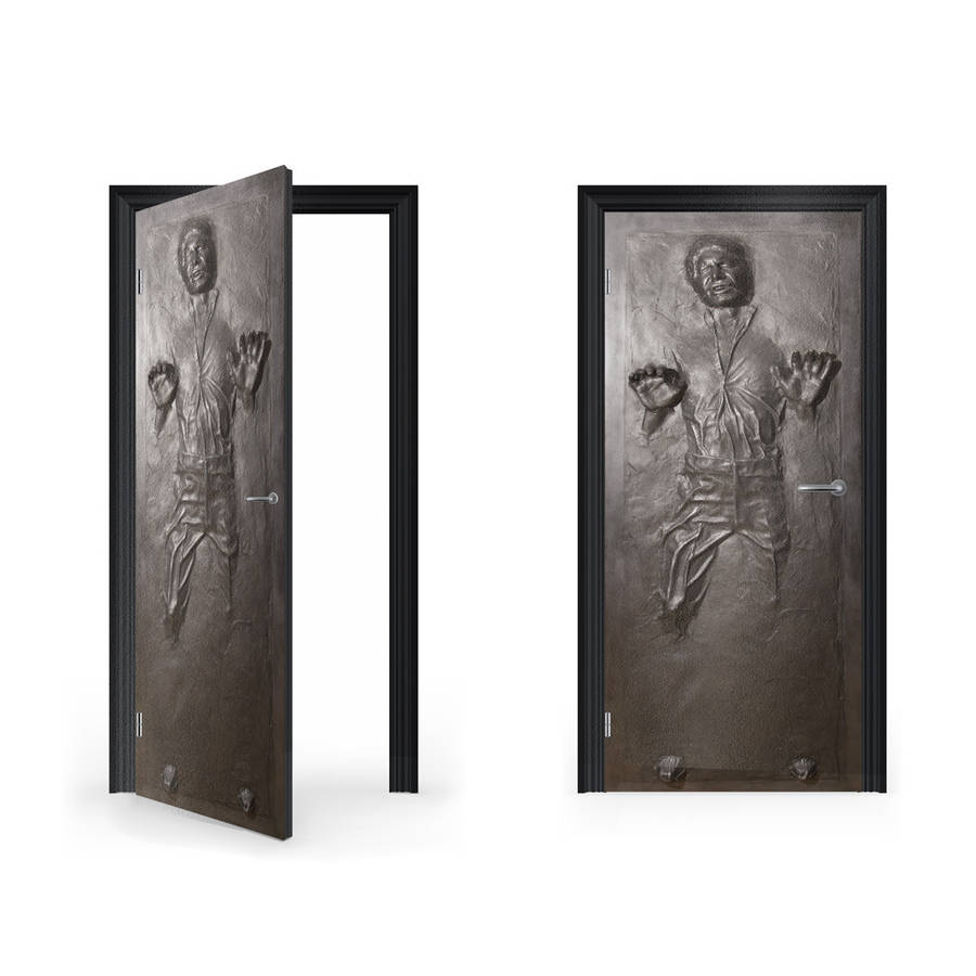 Han Solo In Carbonite Vinyl Sticker For Door By Vinyl
