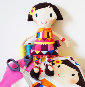 Personalised Sew Your Own Doll Kit - creative kits & experiences