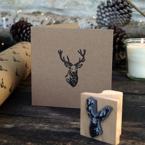 Stag Rubber Stamp - cards & wrap