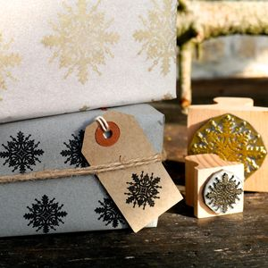 Christmas Snow Flake Stamp