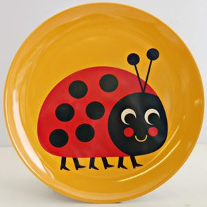 Vintage Ladybird Melamine Plate - baby care