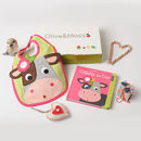 Collette The Cow Bib And Book Set