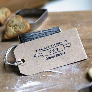 'From The Kitchen Of' Personalised Stamp - finishing touches