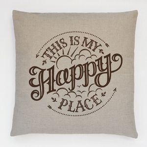 Happy Place Cushion - decorative accessories
