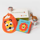 Louis The Lion Bib And Book Set