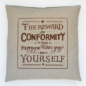 Conformity Quote Cushion
