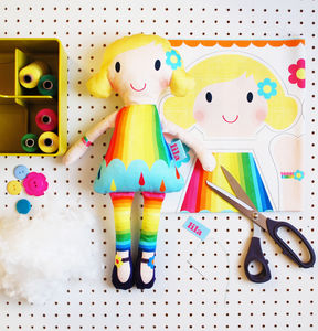 Personalised Doll Craft Sewing Kit - toys & games