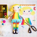 Craft Sewing Kit Soft Personalised Mini Doll