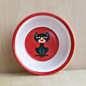 Vintage Cat Melamine Bowl - children's tableware