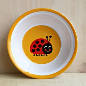 Vintage Ladybird Melamine Bowl - baby care