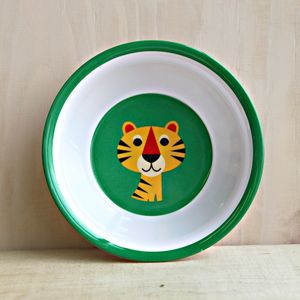 Retro Tiger Melamine Bowl