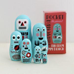 Pocket Robot Nesting Dolls