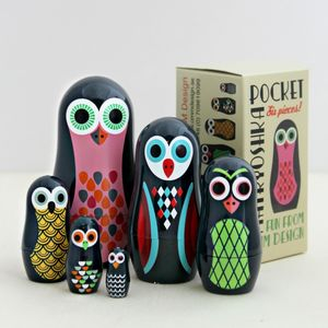 Pocket Owl Nesting Dolls