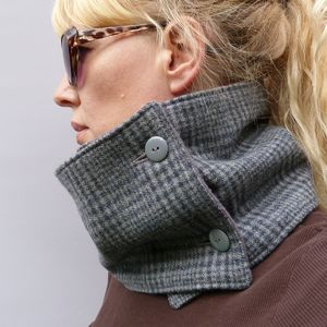 British Tweed Neckwarmer Scarf