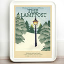Narnia Lamppost Retro Travel Print
