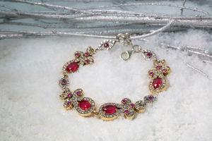 Silver Ruby Red Farzana Bracelet
