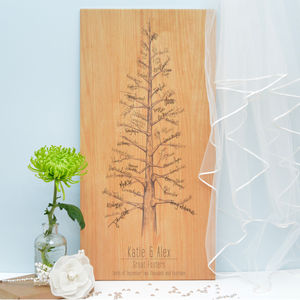 Wooden Signing Tree - rustic wedding