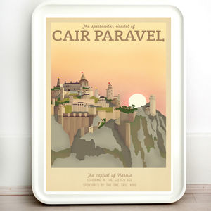 Narnia Cair Paravel Retro Travel Print