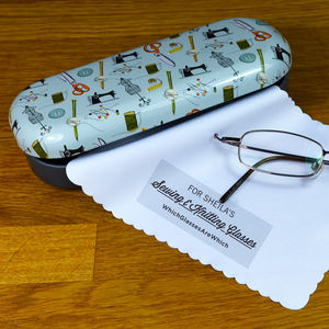 Personalised Sewing & Knitting Glasses Case - glasses cases