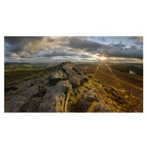 'Win Hill Panoramic Sunset' Limited Edition Print - nature & landscape