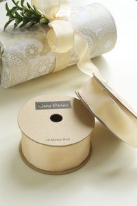 Light Gold Wired Ribbon 10 Metres - cards & wrap